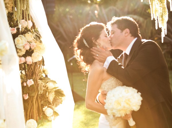 1 Bride and Groom under canopy